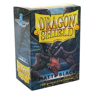 100 Dragon Shield Sleeves - Matte Black