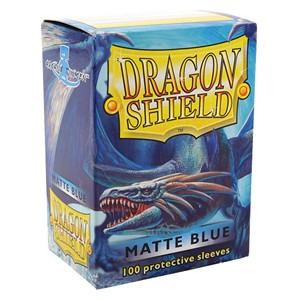 100 Dragon Shield Sleeves - Matte Blue