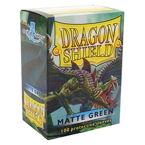 100 Dragon Shield Sleeves - Matte Green