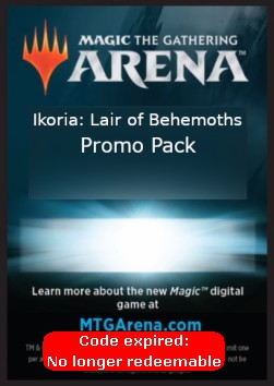 Arena Code Card (Promo Pack)