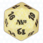 Dado D20 de Magic 2011 blanco