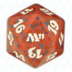 Dado D20 de Magic 2011 rojo