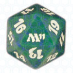 Dado D20 de Magic 2011 verde