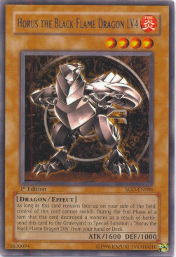 Horus the Black Flame Dragon LV4 (V.1 - Rare)