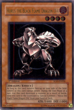 Horus the Black Flame Dragon LV4 (Version 2 - Ultimate Rare)