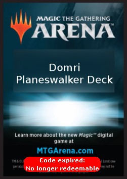 Arena Code Card (Planeswalker Deck) (Version 1)