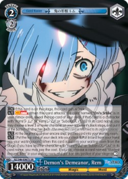 Demon's Demeanor, Rem (V.2 - Super Rare)