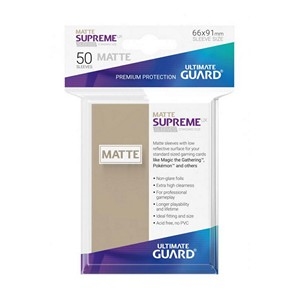 50 Ultimate Guard Supreme UX Matte Sleeves (Sand)
